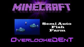semi auto fish farm afk minecraft xbox 360 ps3 tutorial