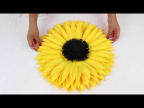 DIY Paper Sunflower using Template #7