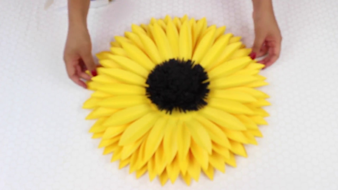 Diy Paper Sunflower Using Template 7