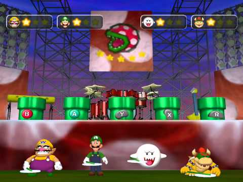 Mario Party 5 minigame: Pop-Star Piranhas 60fps