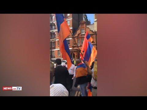Տեսաանյութ.Ադրբեջանիցները Լոնդոնում համարժեք ու մի բան էլ ավելի պատասխան են ստացել հայերից