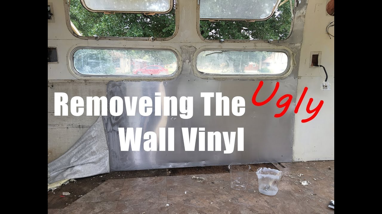 How to Remove Vinyl from Interior Walls of an Airstream - Airstream  Renovation