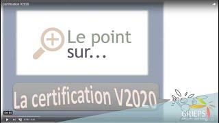 Certification V2020
