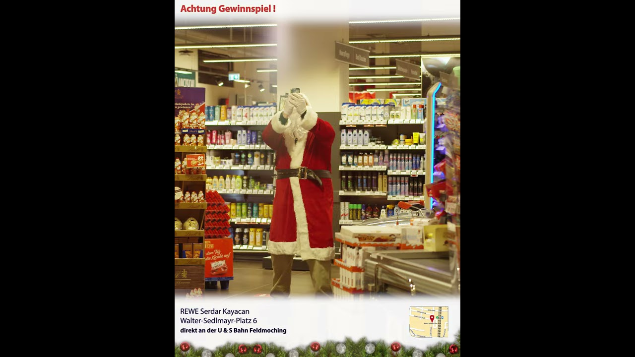 Weihnachtsgewinnspiel REWE Kayacan OHG   Der Weihnachtsmann macht Gewinnspiel   Spot 3/7