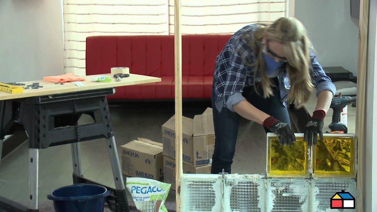 Construye un biombo en bloques de vidrio youtube - Cocinas con bloques de vidrio ...