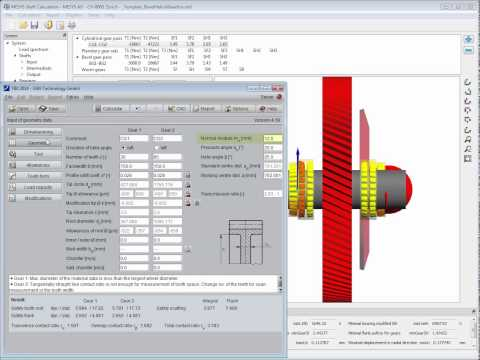 MESYS Shaft System Calculation - Interface With TBK Gear Calculation