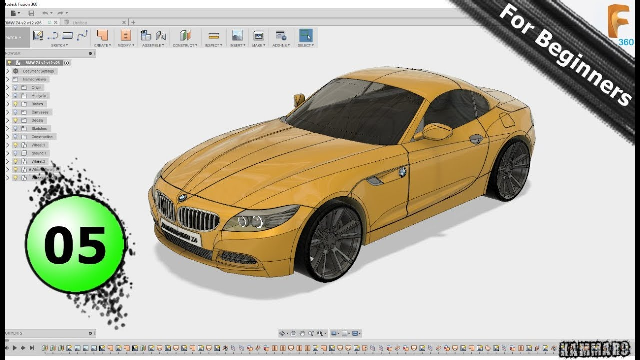 Full Form Of Bmw And Amw >> Bmw Z4 With Fusion 360 Ep 05 Full Hd 2018 Youtube