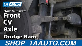 auto repair replace change front cv axle dodge ram 02 08 1aauto com