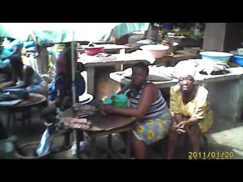 Sao Tomé & Principe. Market in the city of Sao Tomé