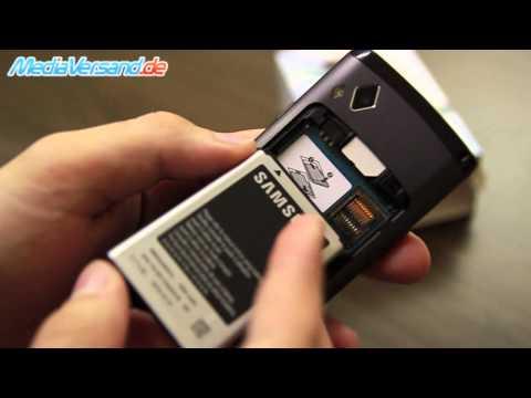 Samsung Wave II SIM-Karte und Akku einsetzen Handy Telefon Mobile