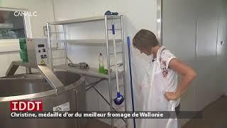 IDDT Christine, médaille d'or du meilleur fromage de Wallonie