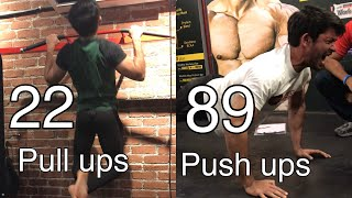 I scored the HIGHEST PULL UPS and HIGHEST PUSH UPS!