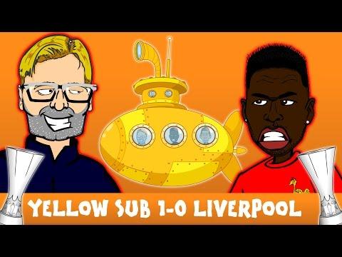 Villarreal vs liverpool fc 1-0 (europa league semi-final 2016 parody cartoon highlights)