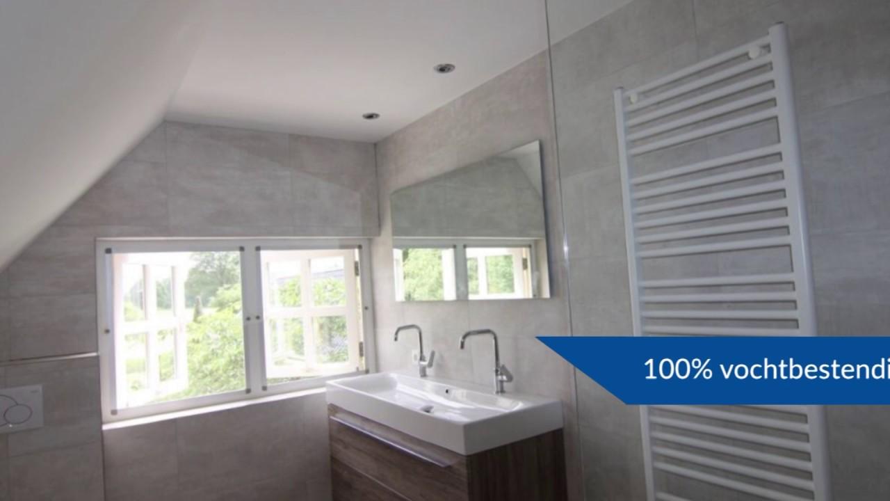 Nieuw Badkamer Plafond | Plameco Engelen - YouTube