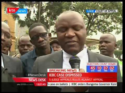 Lawyers react after appellate court dismisses IEBC's appeal