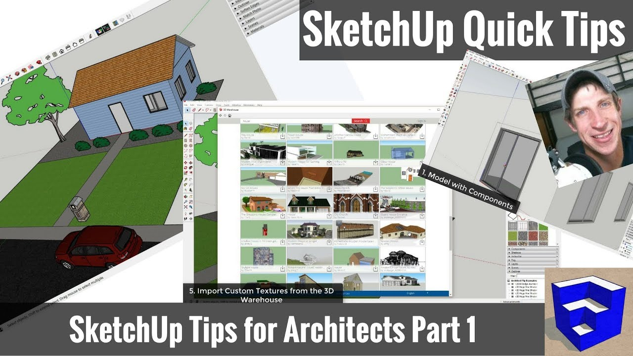 5 GREAT TIPS for Architectural Modeling in SketchUp