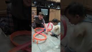 Racing cars with family