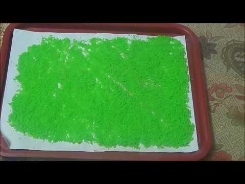Как покрасить кокосовую стружку