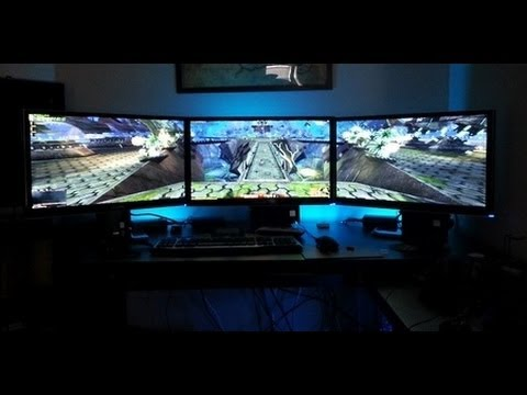How to Set Up Nvidia Surround With 3 Monitors 5760x1080 Resolution