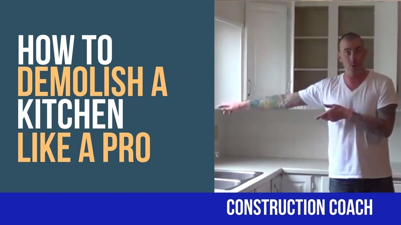 How to demolish a kitchen like a pro diy youtube how to demolish a kitchen like a pro diy solutioingenieria Images