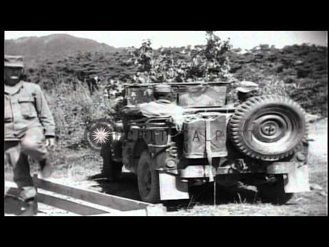 U.S.Army Signal Corps and Engineer Corps activities during Korean War HD Stock Footage