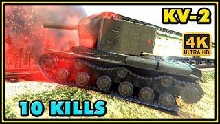World of Tanks | KV-2 - 10 Kills - 4,9K Damage - 2 VS 7 Gameplay