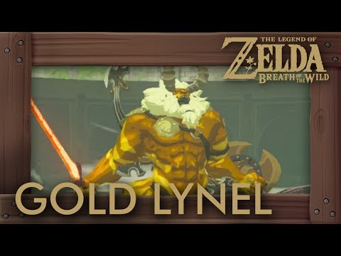 Zelda Breath Of The Wild - Gold Lynel Battle (Hardest Enemy)