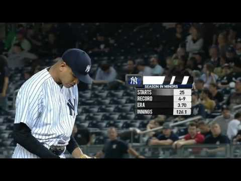 dellin betances debut as a yankee.mp4