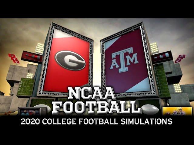 Georgia vs Texas A&M 2020 NCAA Football Simulation