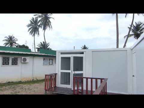 conteneur préfabriqué ou module démontable et équipe Abidjan cote d'ivoire
