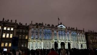 Лазерное шоу на Дворцовой площади