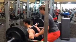 15 Year Old Bodybuilder Squats 365 lbs!