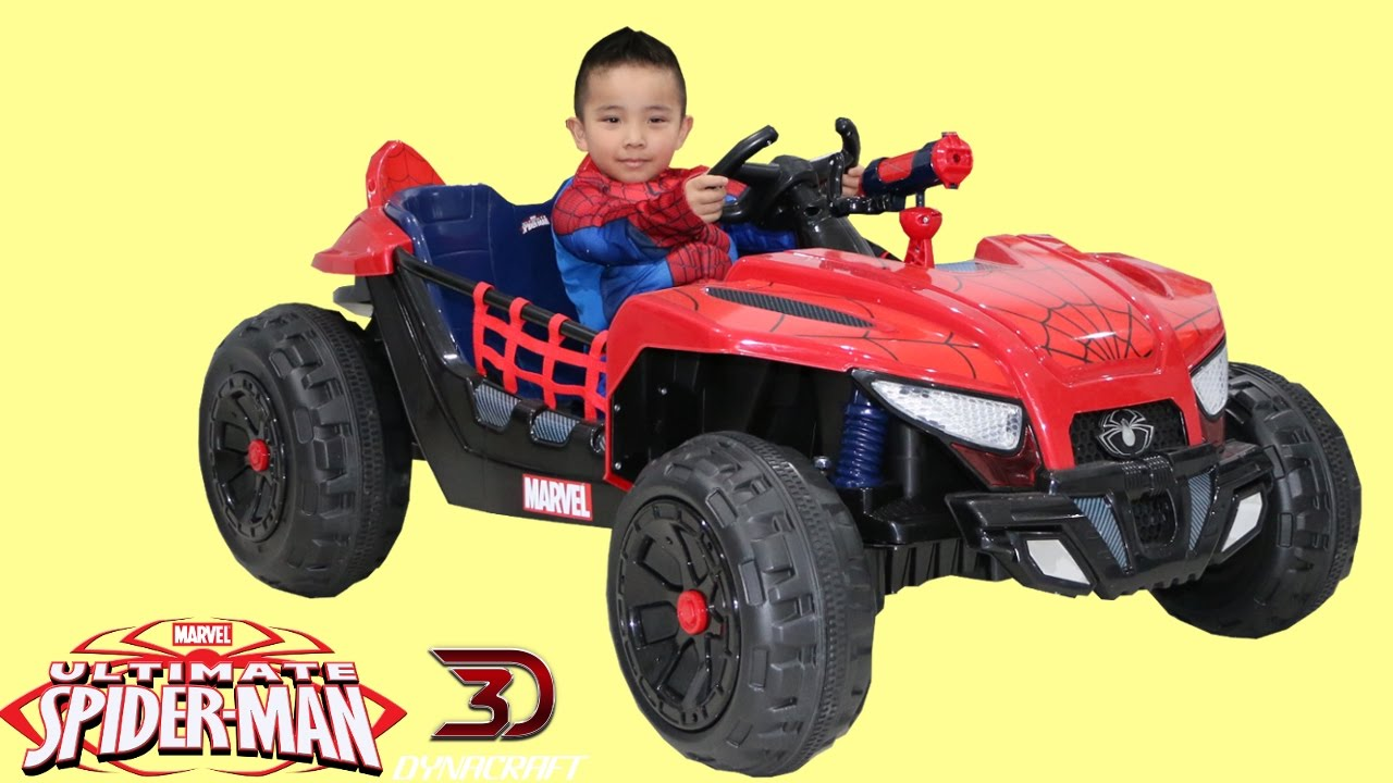Spiderman Electric Ride On Car