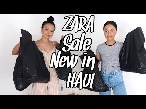 HUGE ZARA TRY ON HAUL - AYSE AND ZELIHA