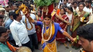 Secunderabad Ujjaini Mahankali bonalu 2017 l Jogini Kranthi l Jogini Kranthi Bonam 2017