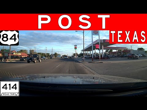Driving Through Post,Texas