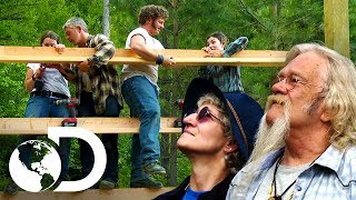 Las fases de construcción de un establo   Alaska: Hombres primitivos   Discovery Latinoamérica