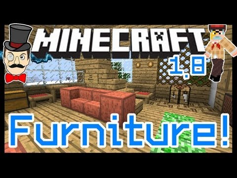 Minecraft Mods - FURNITURE Mod ! Fridge Tables Creeper Rugs ! Parquetry & More!