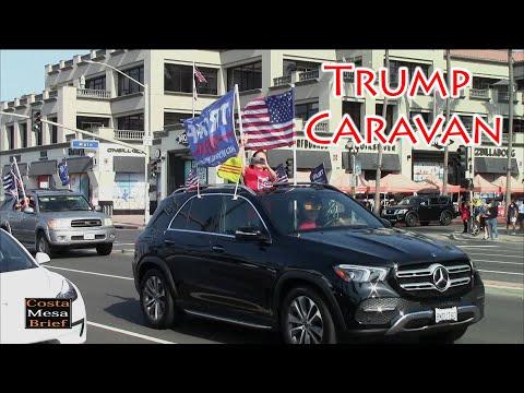 Trump Caravan At Huntington Beach