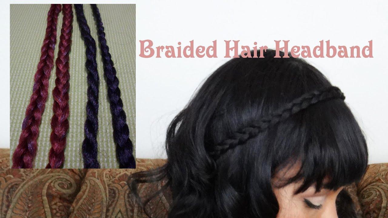 Faux Hair Braided Headband