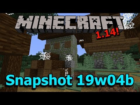 Minecraft 1.14 Snapshot 19w04b- Zombie Villages, Stonecutter recipes, Bug fixes!