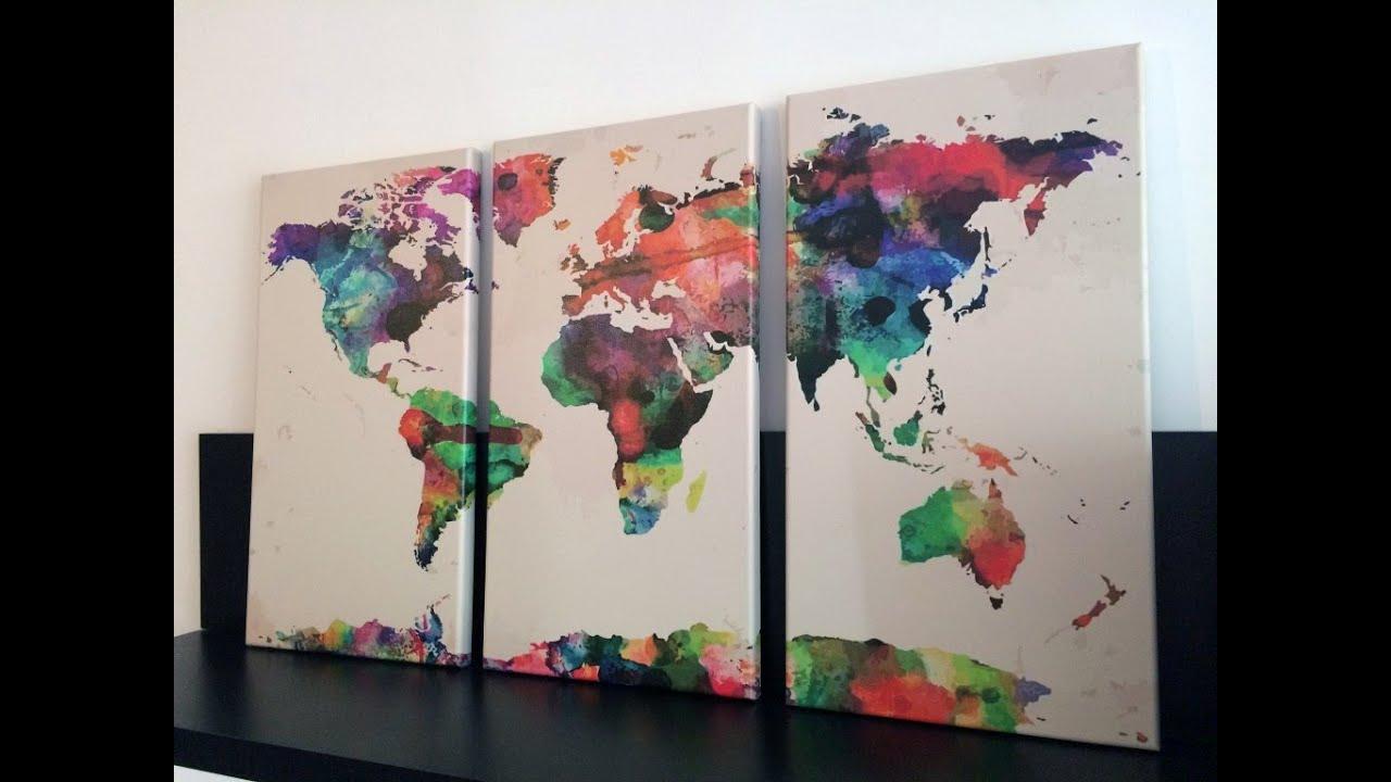 Mapa Del Mundo Decorativo Cuadro
