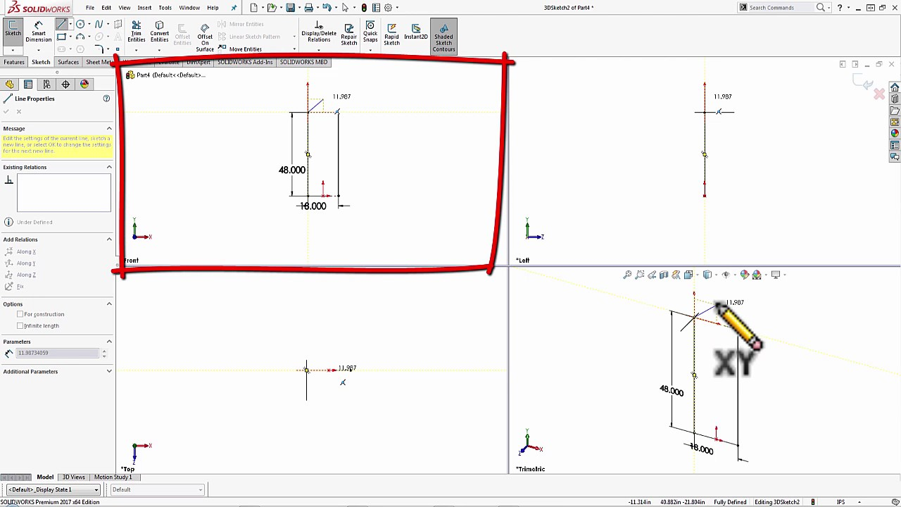 SOLIDWORKS 2017 - Intro to 3D Sketching