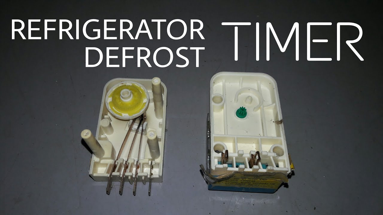 Refrigerator Timer Test Repair   Defrost Timer Check And