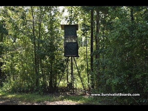 Modifying A Tripod Deer Hunting Stand