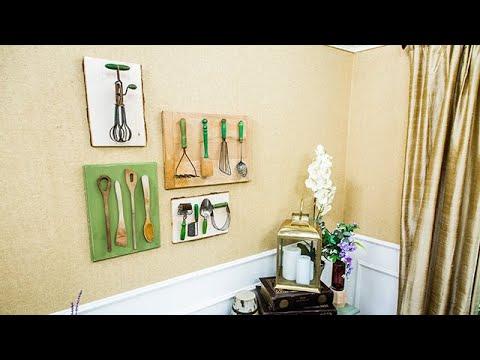 DIY Kitchen Utensil Wall Art - Home & Family - YouTube