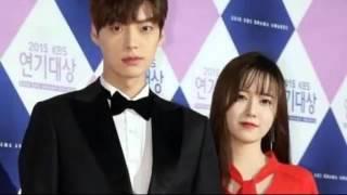 Koo Hye Sun and Ahn Jae Hyun in the KBS Drama Awards 2015