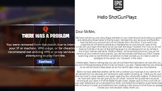 So I got banned for CHEATING in Fortnite, then Epic Games sent me this...