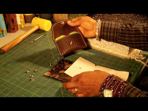 How To Make a  Leather Coin Purse