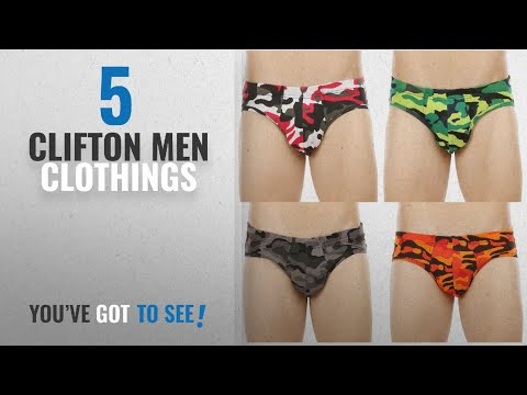 Top 10 Clifton Men Clothings [ Winter 2018 ]: Clifton Men's Army ie Brief Pack Of 4-White Red-Lime